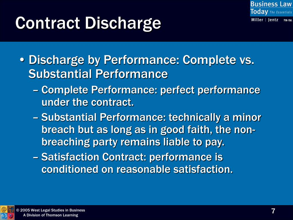 Contract Discharge