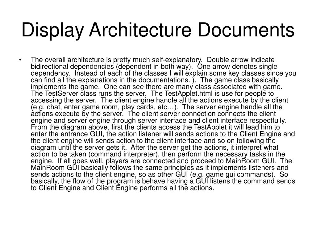 Display Architecture Documents