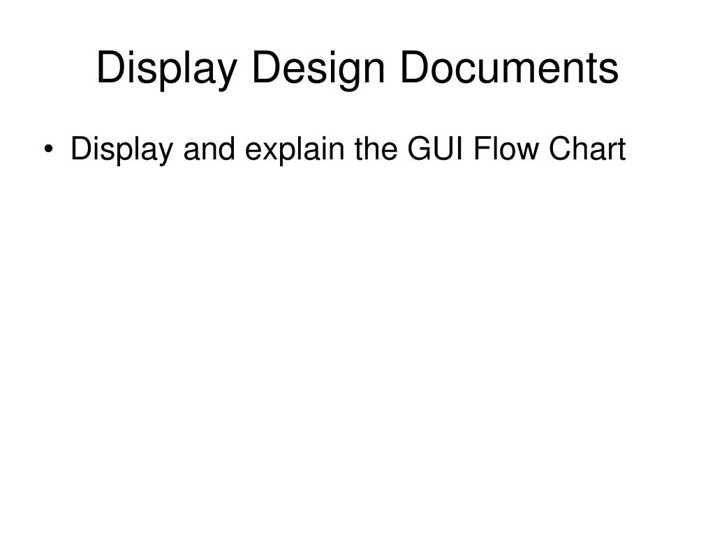 Display Design Documents