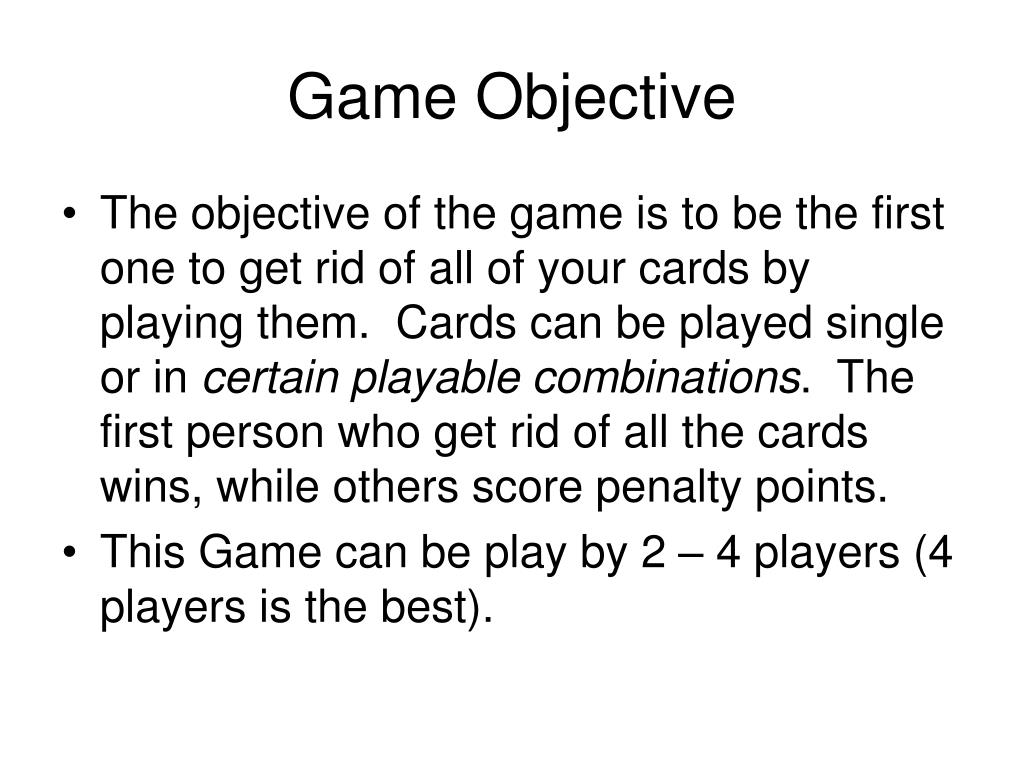 Game Objective