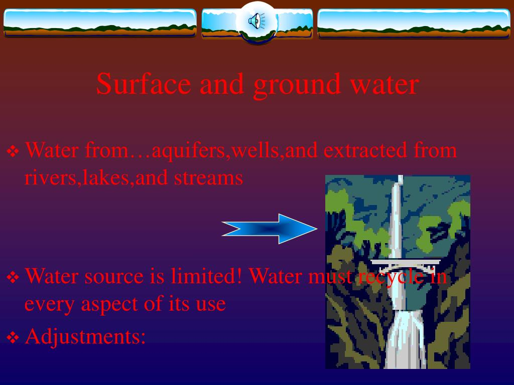 Surface and ground water