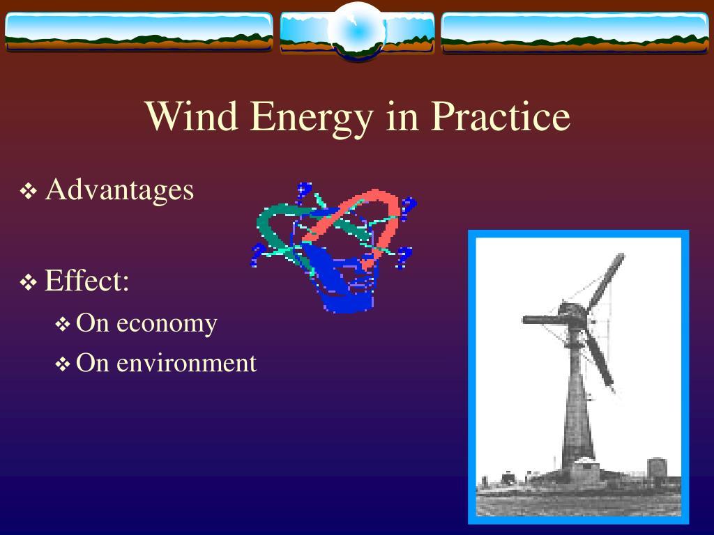 Wind Energy in Practice