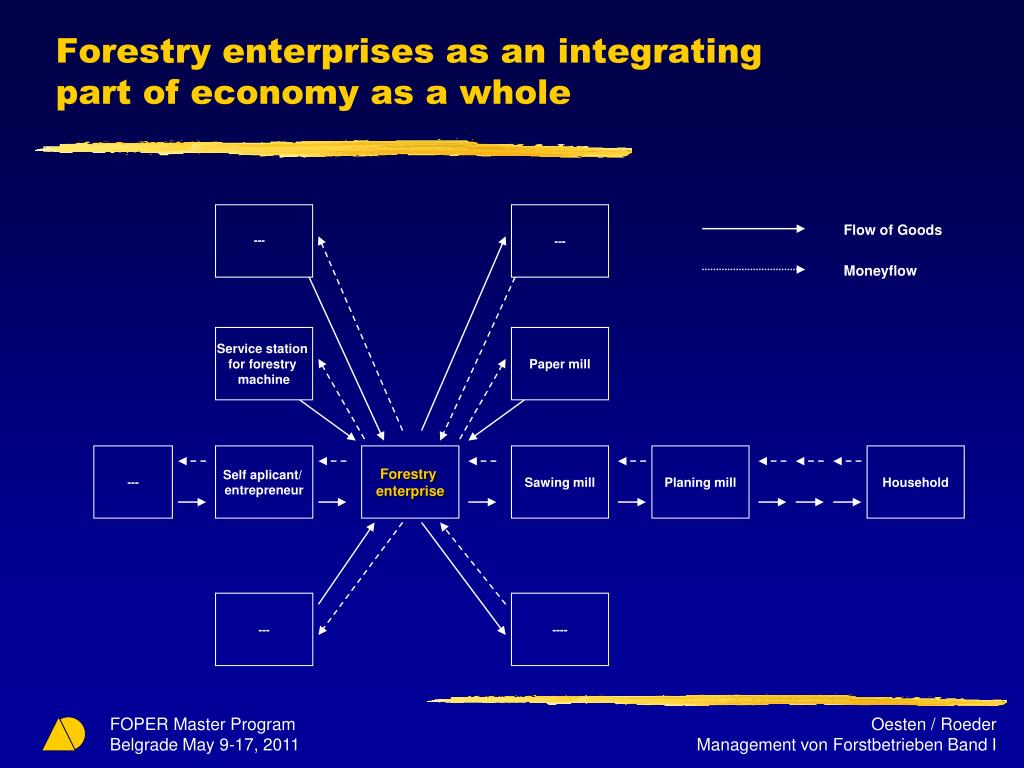 Forestry enterprises as an integrating