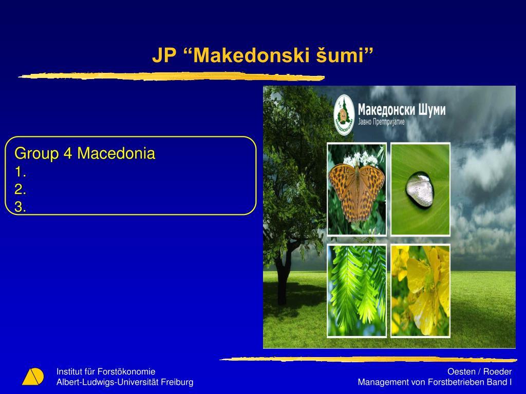 """JP """"Makedonski šumi"""""""