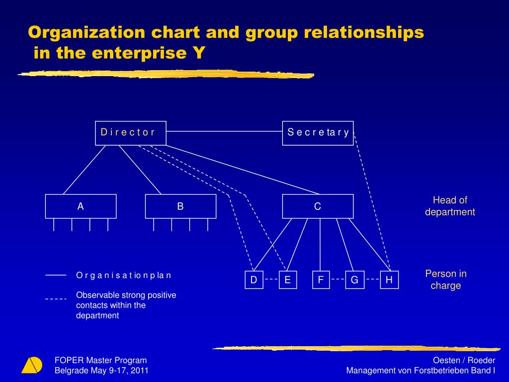 Organization chart and group relationships