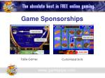 game sponsorships