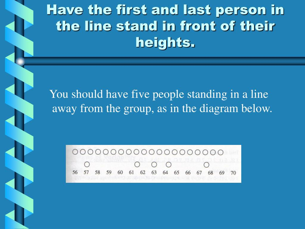 Have the first and last person in