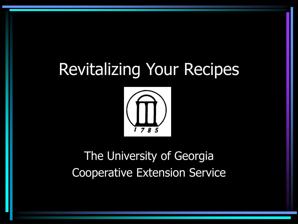 revitalizing your recipes l.