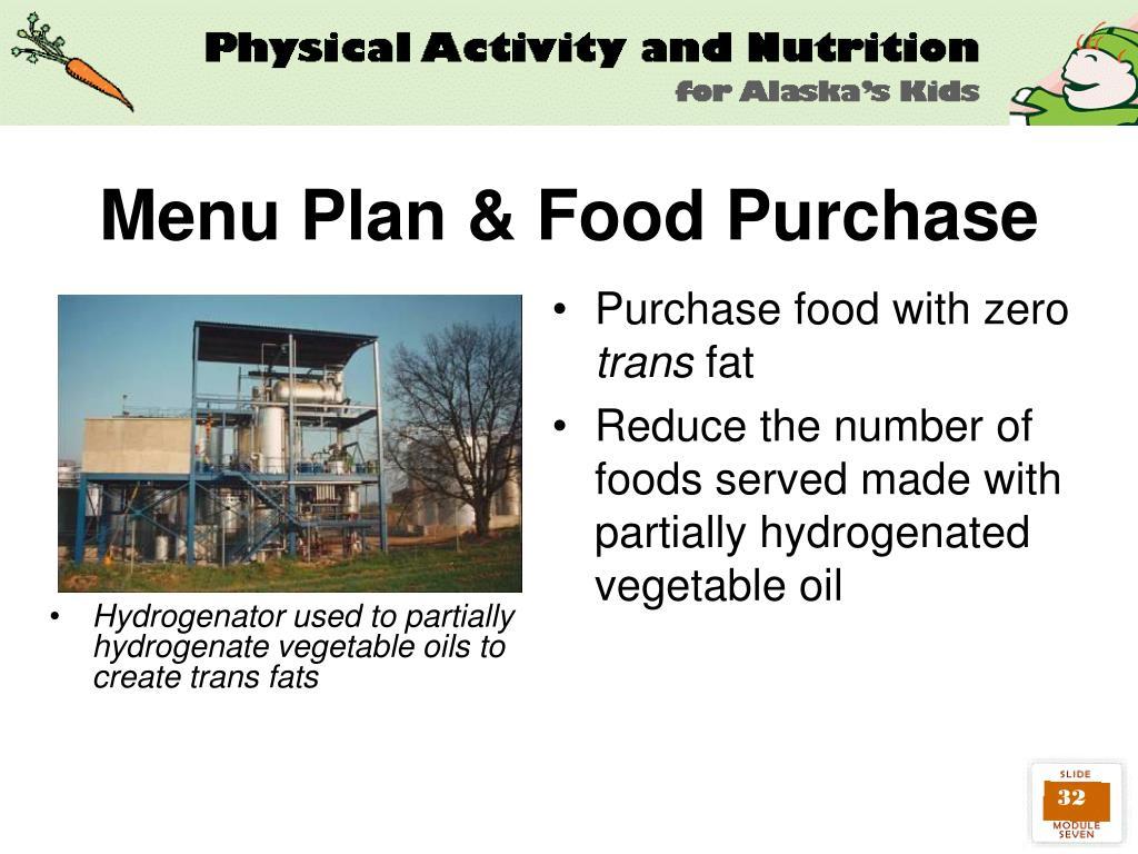 Menu Plan & Food Purchase