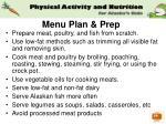 menu plan prep