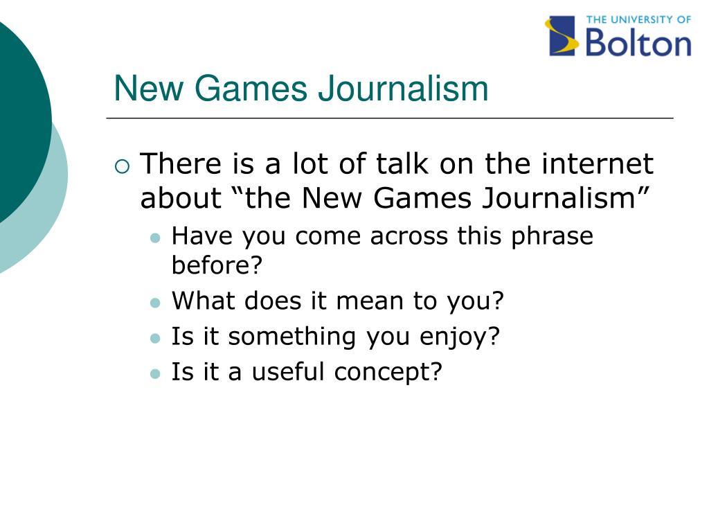 New Games Journalism
