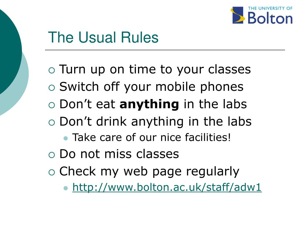 The Usual Rules