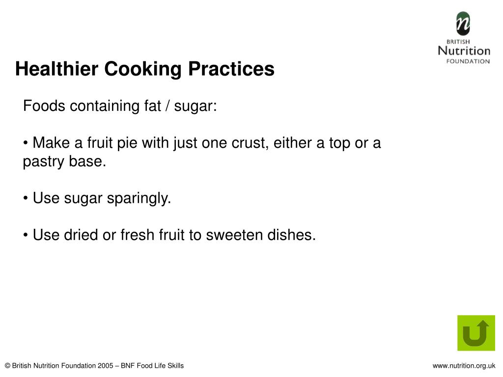 Healthier Cooking Practices