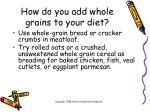 how do you add whole grains to your diet12