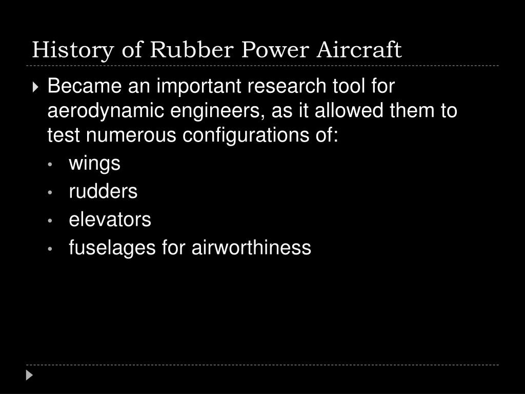 History of Rubber Power Aircraft