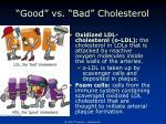 good vs bad cholesterol