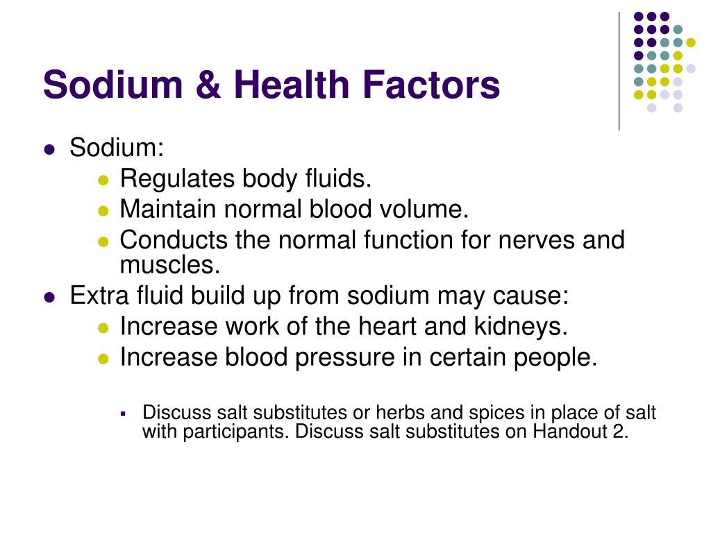 Sodium & Health Factors