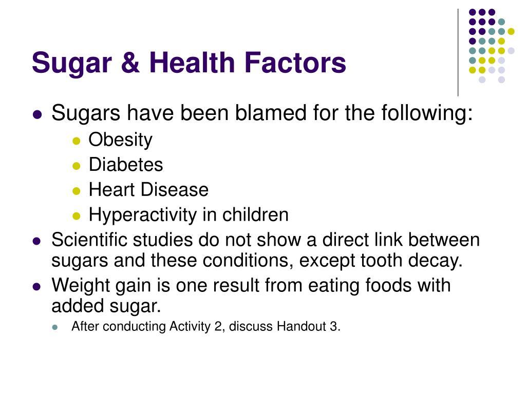 Sugar & Health Factors