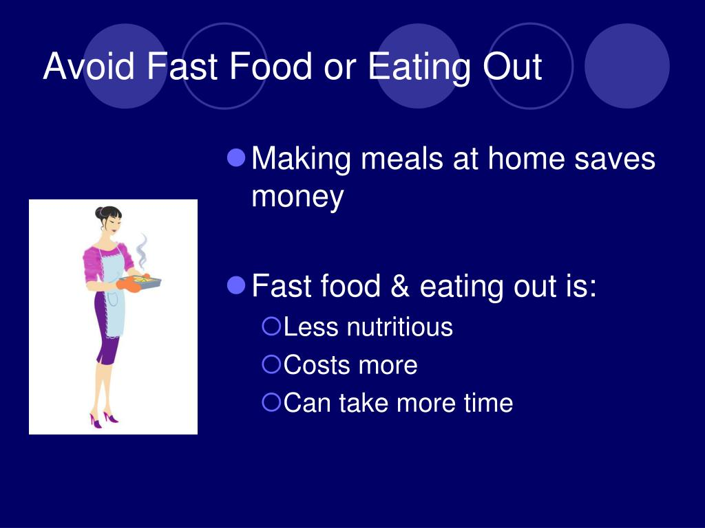 Avoid Fast Food or Eating Out