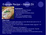 example recipe baked ziti
