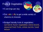 fruits vegetables