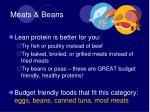 meats beans