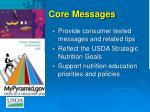 core messages
