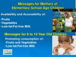 messages for mothers of elementary school age children