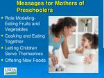 messages for mothers of preschoolers