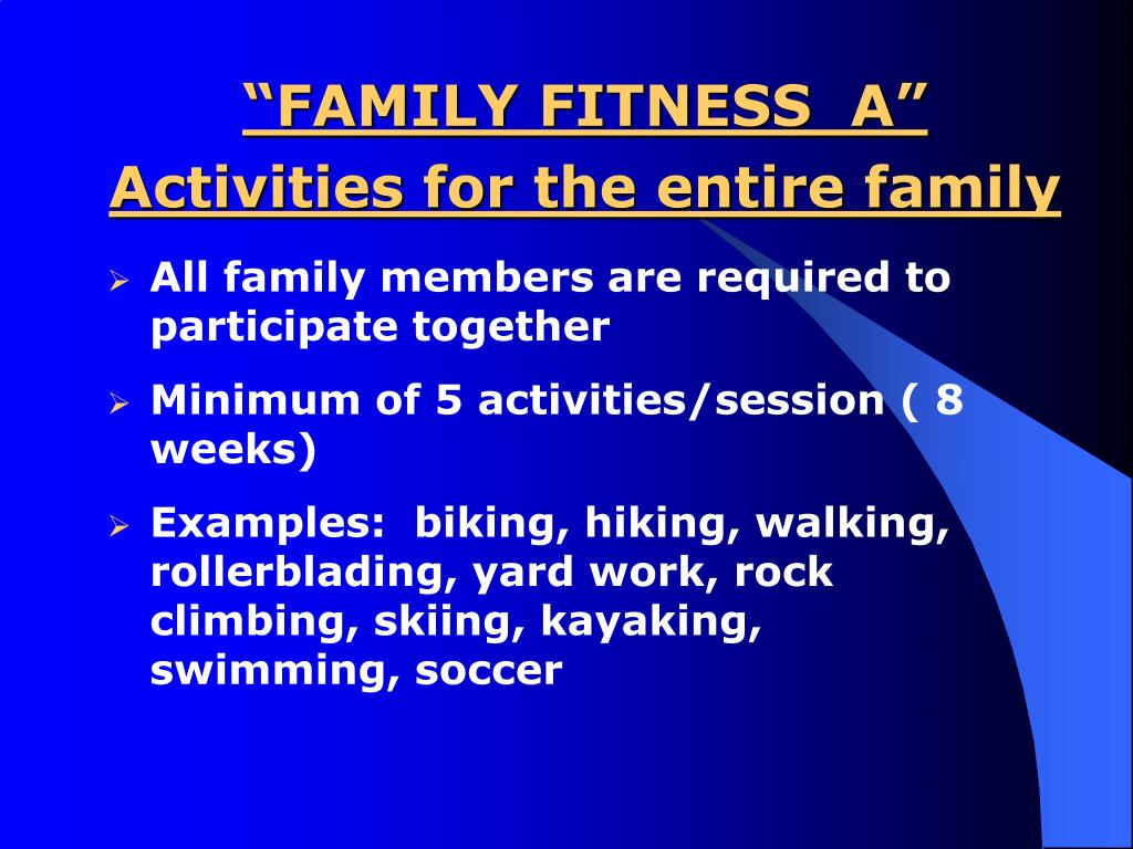"""""""FAMILY FITNESS  A"""""""