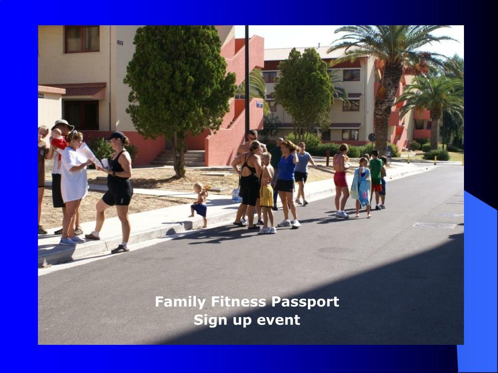 Family Fitness Passport