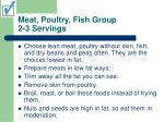 meat poultry fish group 2 3 servings