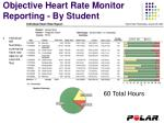 objective heart rate monitor reporting by student