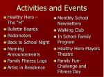 activities and events