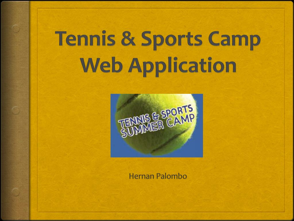 tennis sports camp web application l.