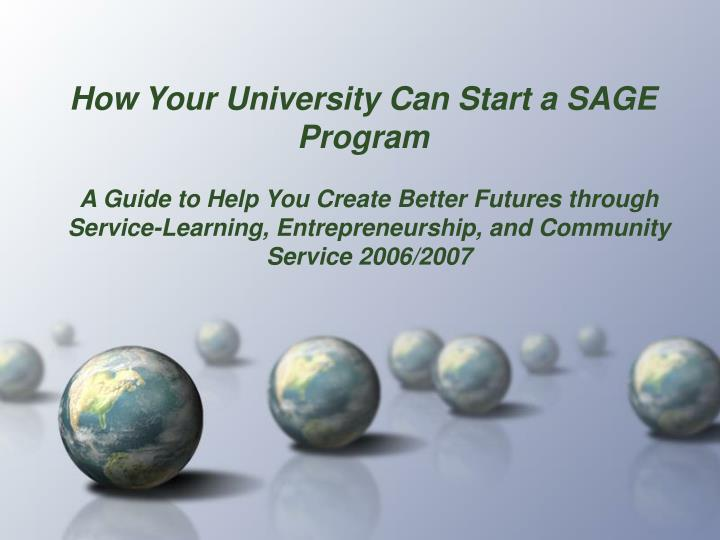 how your university can start a sage program n.