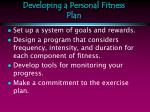 developing a personal fitness plan13