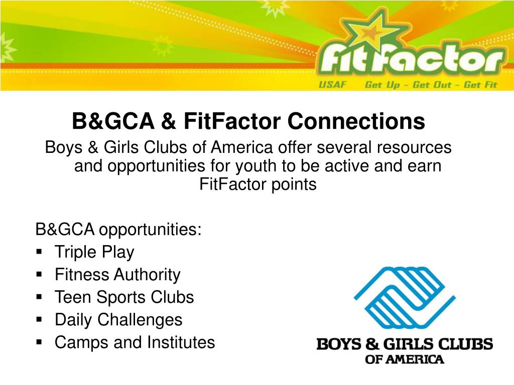 B&GCA & FitFactor Connections