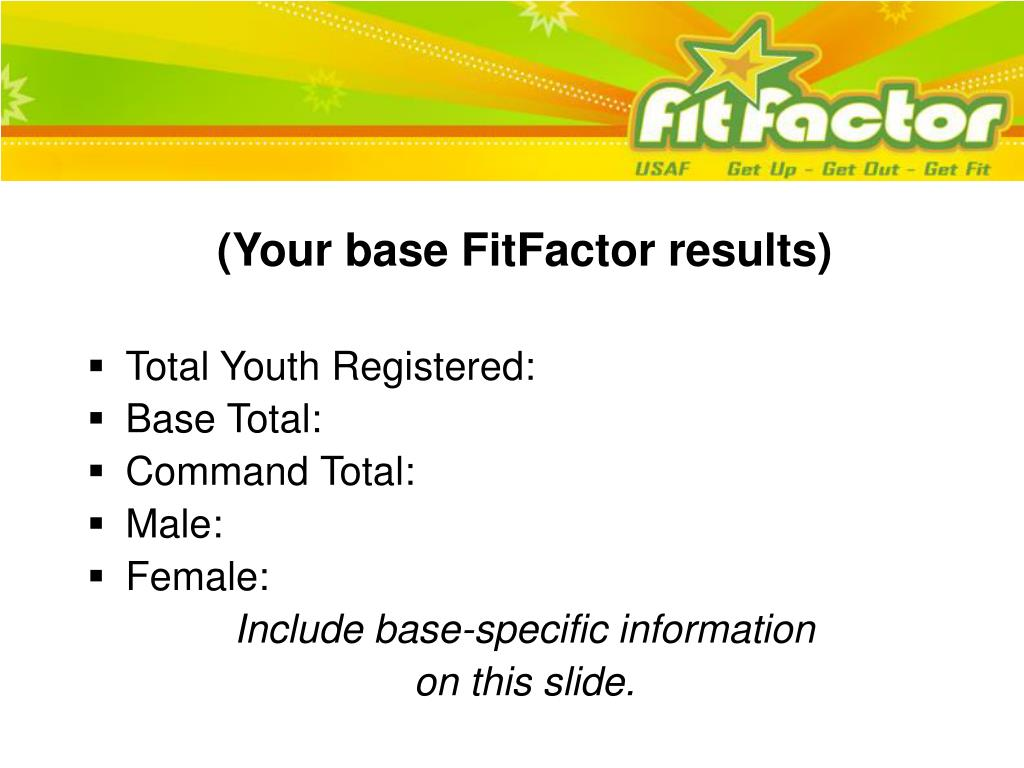 (Your base FitFactor results)