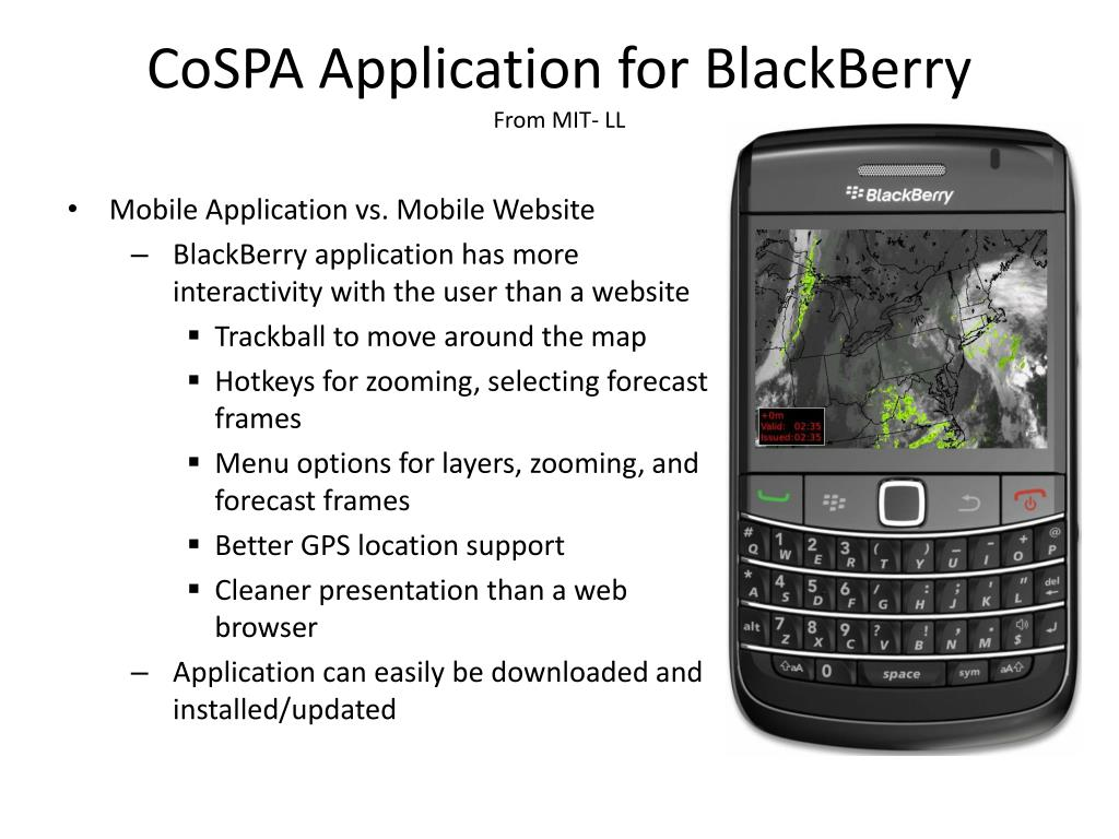 CoSPA Application for BlackBerry