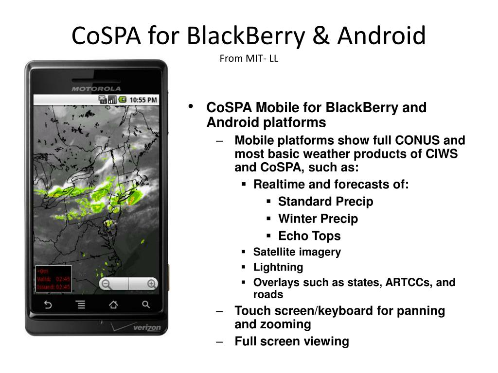 CoSPA for BlackBerry & Android