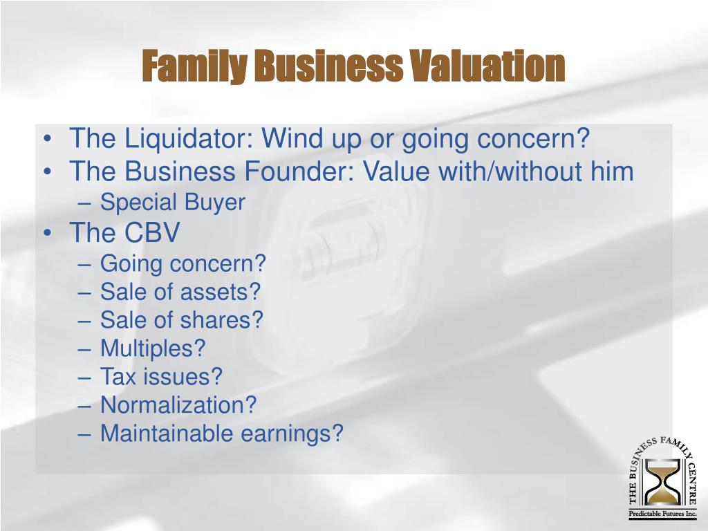 Family Business Valuation