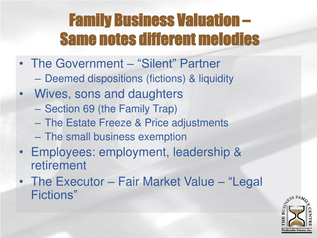Family Business Valuation –