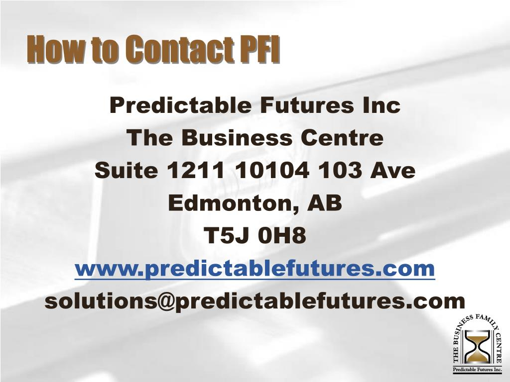 How to Contact PFI