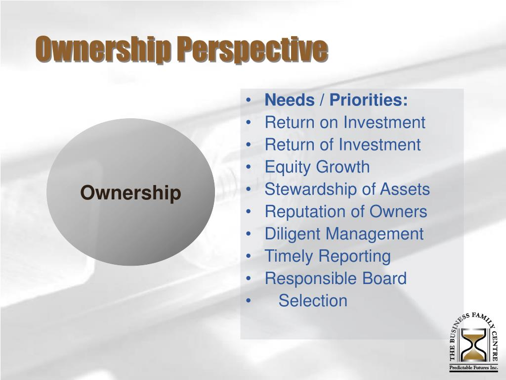 Ownership Perspective