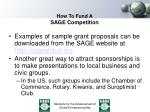 how to fund a sage competition2