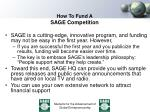 how to fund a sage competition3