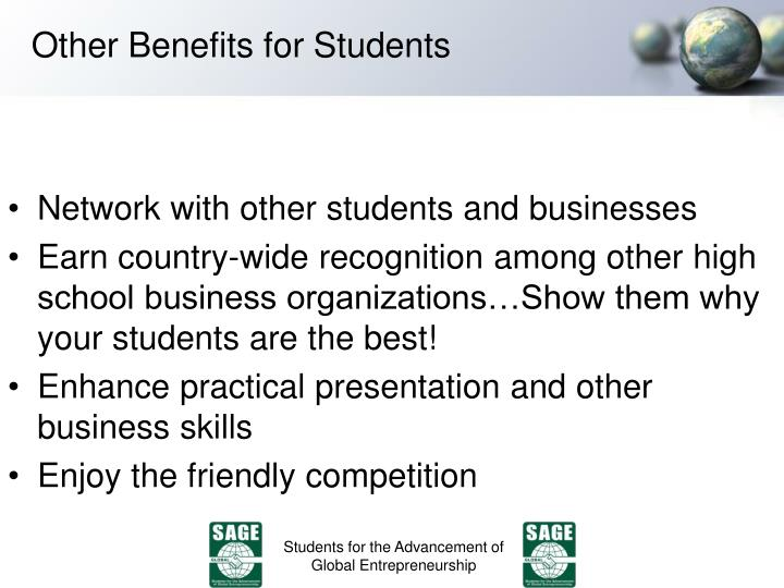 Other Benefits for Students