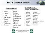 sage global s impact