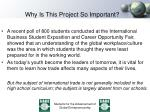 why is this project so important1